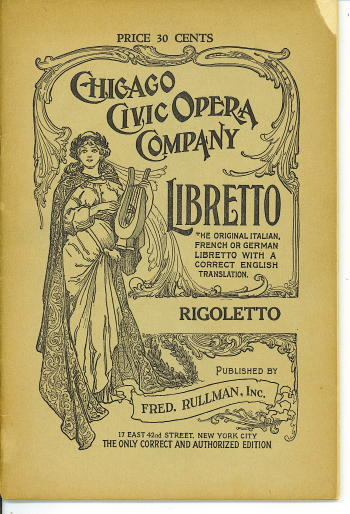 Image for Rigoletto The Original Italian, French or German Libretto with a Correct English Translation