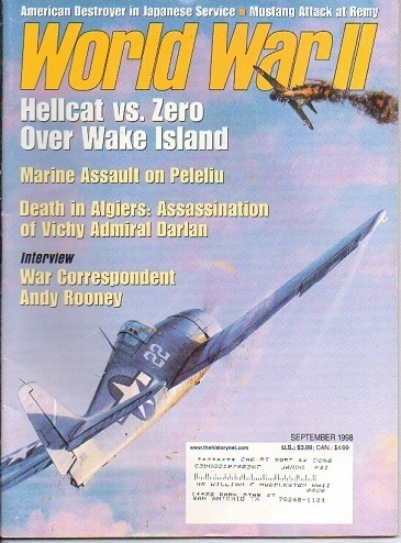 Image for World War II Magazine, September 1998 Hellcat Vs. Zero over Wake Island