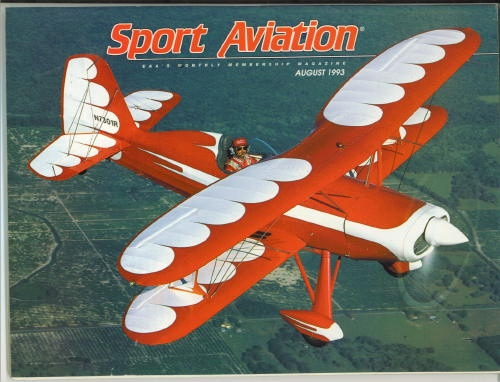Image for Sport Aviation, August 1993