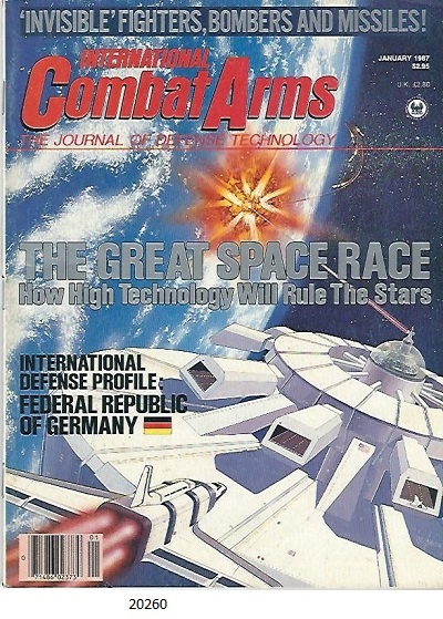 Image for International Combat Arms, January 1987 The Journal of Defense Technology, the Great Space Race