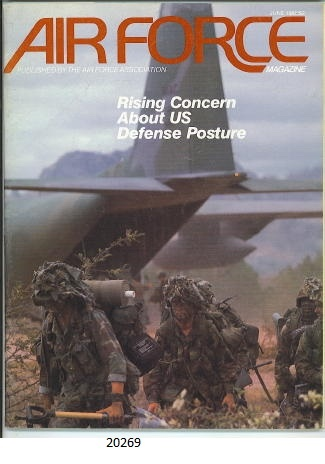 Image for Air Force Magazine, June 1988 Rising Concern about US Defense Posture