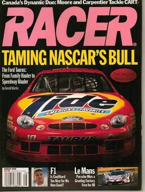 Image for Racer Magazine, August 1998, Canada's Dynamic Duo Taming Nascar's Bull