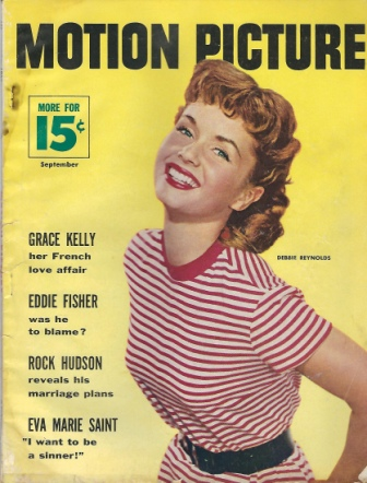 Image for Motion Picture Magazine, September 1955 Debbie Reynolds
