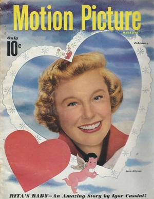 Image for Motion Picture Magazine, February, 1949 June Allyson