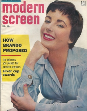Image for Modern Screen, February 1955 Elizabeth Taylor
