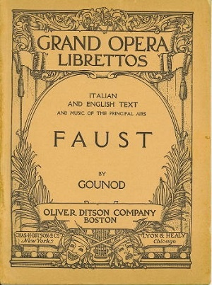 Image for Faust, A Lyric Drama In Five Acts With Italian and English Text and Music of the Principal Airs