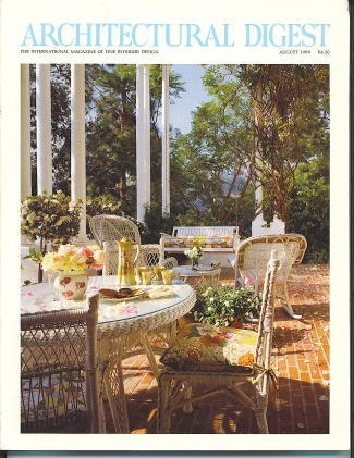 Image for Architectural Digest August 1989 The International Magazine of Fine Interior Design