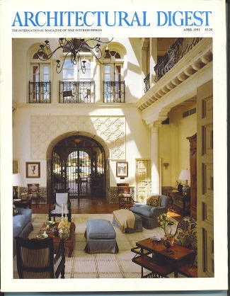 Image for Architectural Digest April 1991 The International Magazine of Fine Interior Design