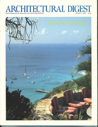 Image for Architectural Digest August 1, 1990, Special Islands Issue The International Magazine of Interior Design
