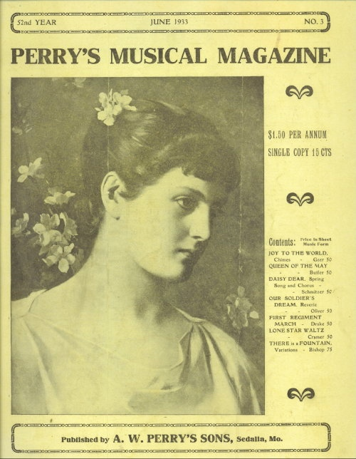 Image for Perry's Musical Magazine, June 1933, No. 3
