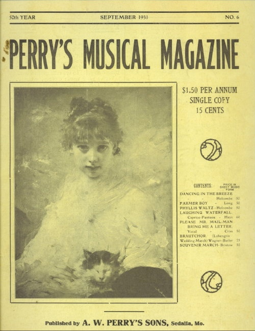 Image for Perry's Musical Magazine, September 1931, No. 6