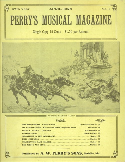 Image for Perry's Musical Magazine, April 1928, No. 1
