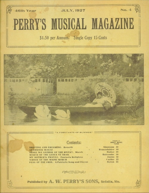 Image for Perry's Musical Magazine, July 1927, No. 4