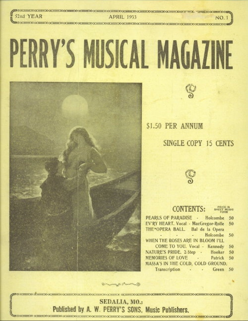 Image for Perry's Musical Magazine, April 1933, No. 1