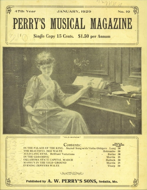 Image for Perry's Musical Magazine, January 1929, No. 10