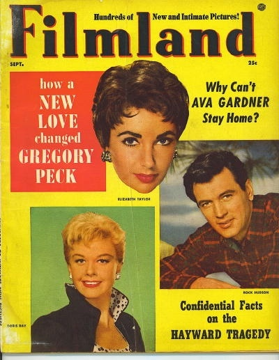 Image for Filmland Magazine, September 1955 Elizabeth Taylor, Doris Day, Rock Hudson