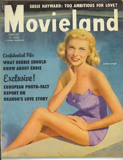 Image for Movieland Magazine, February 1955 Janet Leigh