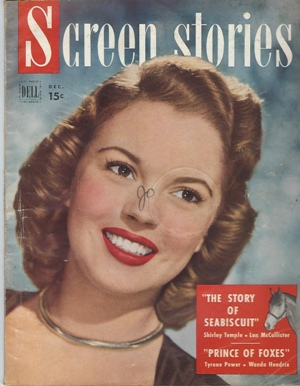 Image for Screen Stories, December 1949 Cover: Shirley Temple