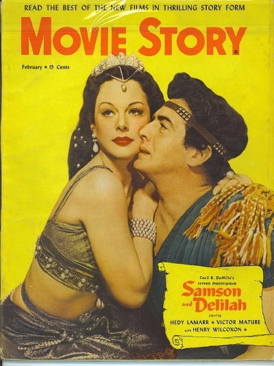 Image for Movie Story, February 1950 Hedy Lamarr and Victor Mature