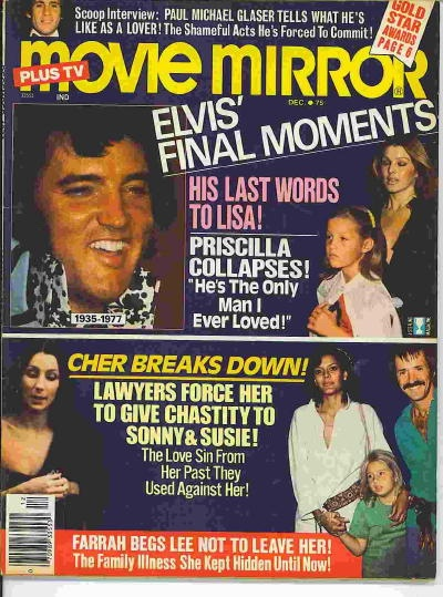 Image for Movie (plus Tv) Mirror: Elvis' Final Moments December 1977