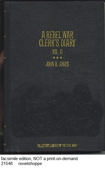 Image for A Rebel War Clerk's Diary, Volume II
