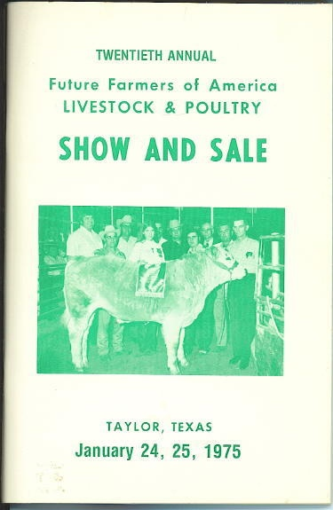 Image for Twentieth Annual Future Farmers Of America Livestock And Poultry Show And Sale January 24, 25, 1975