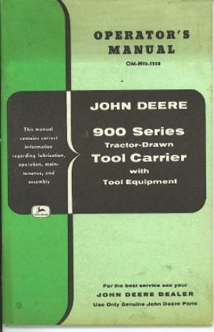 Image for John Deere 900 Series Tractor-drawn Tool Carrier With Tool Equipment
