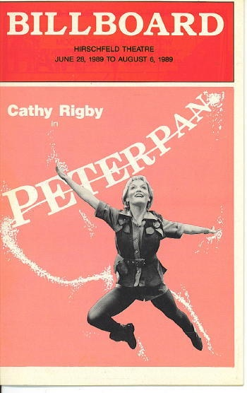 Image for Billboard: Cathy Rigby In Peter Pan June 28 1989 to August 6, 1989