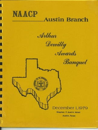 Image for Arthur Dewitty Awards Banquet, December 1, 1979 Stephen F. Austin Hotel, Austin, Texas