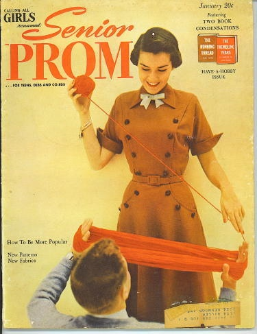 Image for Calling All Girls, Renamed Senior Prom, January 1950 For Teens, Debs and Co-Eds, Have-A-Hobby Issue