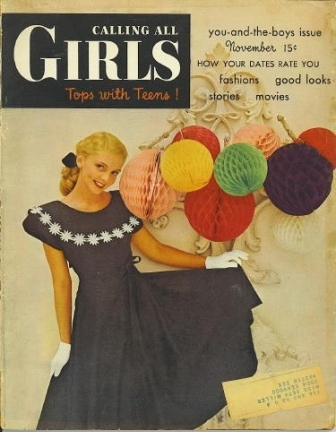 Image for Calling All Girls, November 1947, You And The Boys Issue Tops with Teens