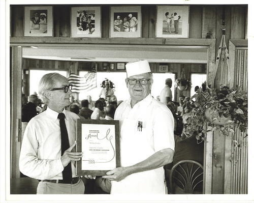 Image for Galveston, Texas Photograph: The Restaurateur Receiving His Award