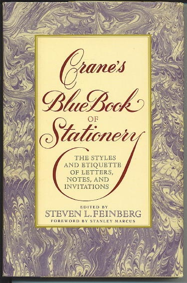 Image for Crane's Blue Book Of Stationery