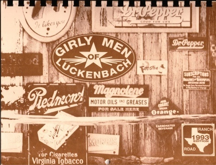 Image for Girly Men (girlymen) Of Luckenbach, Texas, 1993 Calender
