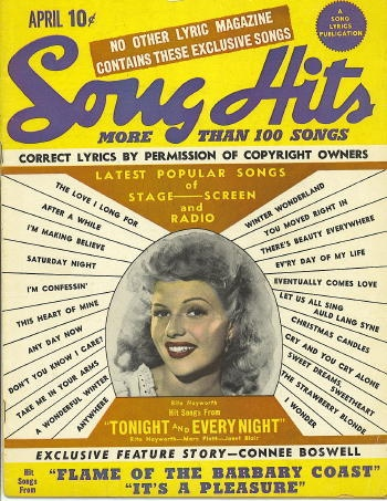 Image for Song Hits: April 1945: Rita Hayworth