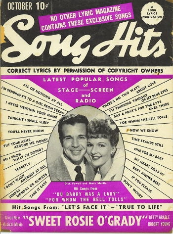 Image for Song Hits: October 1943: Dick Powell And Mary Martin; Du Barry Was A Lady; For Whom The Bell Tolls