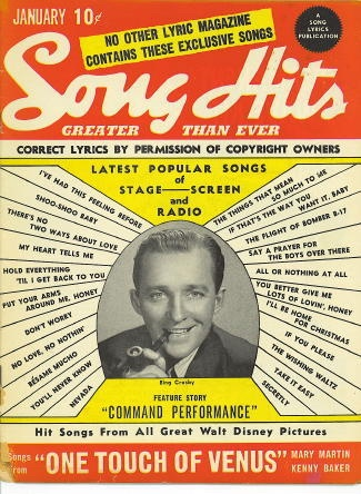 Image for Song Hits: January 1944: Bing Crosby