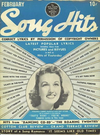 "Image for Song Hits: February 1940: Virginia Simms With Kay Kyser In ""That's Right--you're Wrong"""