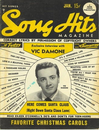 Image for Song Hits: January 1950: VIC Damone, Here Comes Santa Claus