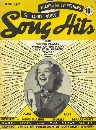 Image for Song Hits: February 1939, Alice Faye, Dance Steps From The Great Waltz