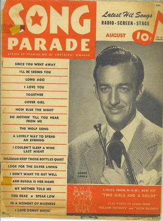 "Image for Song Parade Lyrics from MGM's Hit ""Two Girls and a Sailor"""