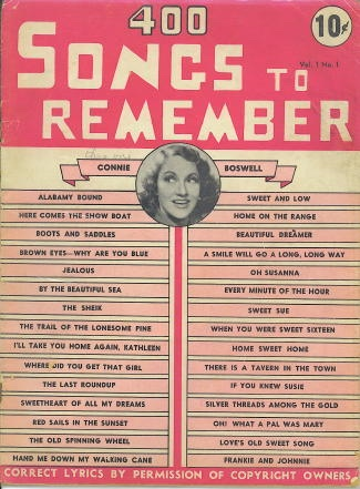 Image for 400 Songs To Remember, February 1939