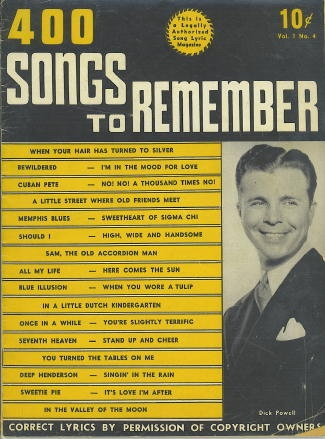 Image for 400 Songs To Remember, December 1939, Volume 1, No. 4