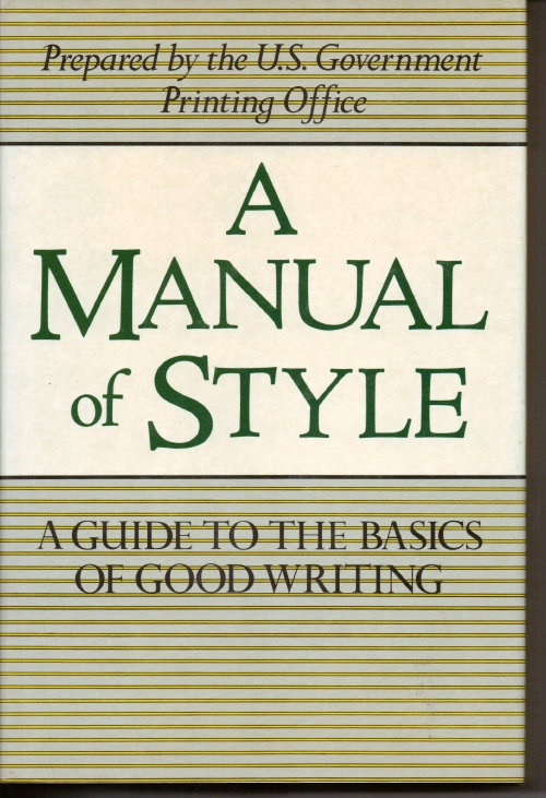 Image for A Manual Of Style
