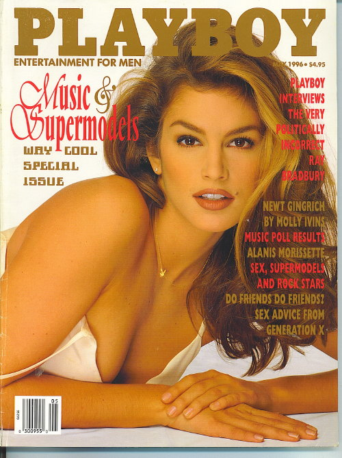 Image for Playboy Magazine, Entertainment For Men, May 1996, Cindy Crawford