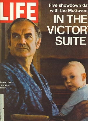 Image for Life Magazine, July 21, 1972 George McGovern in the Victory Suite