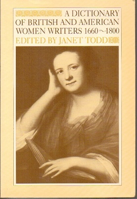 Image for A Dictionary Of British And American Women Writers 1660-1800