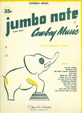 Image for Jumbo Note Cowboy Music For the Elementary Pianist