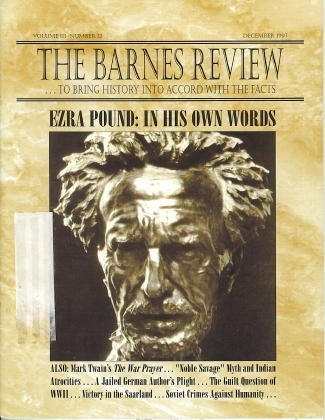 Image for The Barnes Review: To Bring History Into Accord With The Facts Ezra Pound: in His Own Words