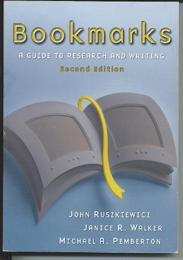 Image for Bookmarks: A Guide To Research And Writing, Second Edition